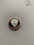 Либерия. 20 долларов. 1997 г. Серебро. 999 пр. 31,1 гр., фото №4