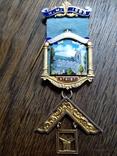 "Массонский знак ""W. M. 1963. Ложа N 6187"", фото №2"