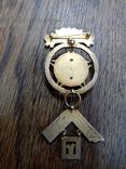 "Массонский знак ""W. M. 1981 - 82. Ложа N 5367."", фото №4"
