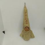 Елочная игрушка Ракета На Луну из папье-маше и ваты. Высота 150мм, фото №2