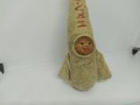 Елочная игрушка Ракета На Луну из папье-маше и ваты. Высота 150мм, фото №3