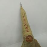 Елочная игрушка Ракета На Луну из папье-маше и ваты. Высота 150мм, фото №4