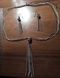 Ожерелье и серьги + бусы + подвески 2 шт.