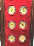 Австралия полный набор лунаров 1-я серия 1/20 унции золото, фото №5