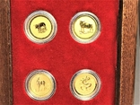 Австралия полный набор лунаров 1-я серия 1/20 унции золото, фото №7