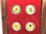 Австралия полный набор лунаров 1-я серия 1/20 унции золото, фото №8
