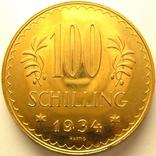 Австрия 100 шиллингов 1934 г., фото №2