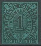 Гг071 Германские города. Гамбург 1862 №А5 V, фото №2