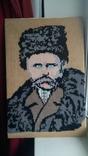 Т.Г.Шевченко вышитая картина 40х61см, фото №2