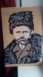 Т.Г.Шевченко вышитая картина 40х61см, фото №3