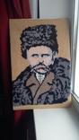 Т.Г.Шевченко вышитая картина 40х61см, фото №4