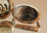 Натуральный пейзажный моховый агат 60-70г/гарнитур/, фото №5