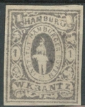 Гг079 Германские города. Гамбург 1863 №А7 V, фото №2