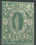 Гг082 Германские города. Гамбург 1863 №А7 VIII, фото №2