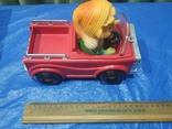 Электромеханическая машинка Буратино в автомобиле СССР в родной коробке, фото №7