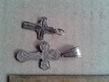 Два крестика серебро, 6,4 грамма, фото №4