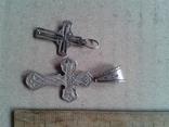 Два крестика серебро, 6,4 грамма, фото №5