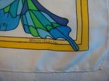 Платок дизайнерский подписной Бабочки, натуральный шелк, фото №5