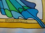 Платок дизайнерский подписной Бабочки, натуральный шелк, фото №6