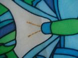 Платок дизайнерский подписной Бабочки, натуральный шелк, фото №7