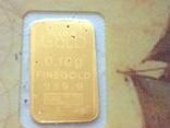 Слиток золота 999.9 0,1 гр. Лот №102 фото 1