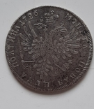 Полтина 1726 копия серебро, фото №2