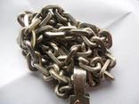 Серебряная цепь с крестом Христос Воскрес . 261 грамм (лоза золотая 7+ грамм), фото №9