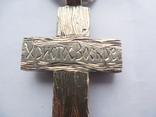Серебряная цепь с крестом Христос Воскрес . 261 грамм (лоза золотая 7+ грамм), фото №11