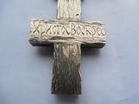 Серебряная цепь с крестом Христос Воскрес . 261 грамм (лоза золотая 7+ грамм), фото №12