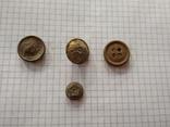 Старинные пуговицы, 4 шт, фото №2