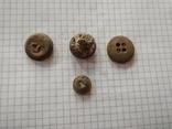 Старинные пуговицы, 4 шт, фото №3