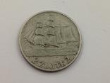 2 злотых 1936, 15 лет морскому порту Гдыня, серебро, фото №2