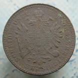 """1 крейцер 1861 р.  """"В"""", фото №3"""