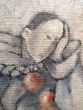 """Картина """"П'єро"""", олія, картон,, фото №3"""