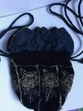 Сумочка с вышивкой стеклярусом, фото №4