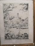 """Картина """"Замкова гора"""", дереворит, рідна рама, фото №5"""