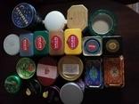 Жестяные банки от кофе, чая, конфет 20 штук, 1990-2000х. г., фото №2