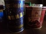 Жестяные банки от кофе, чая, конфет 20 штук, 1990-2000х. г., фото №3