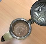 Старинный графин. Хрусталь, бронза. Высота - 32 см, фото №8