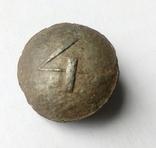 Пуговица РИА №4 оловянная, фото №2