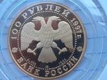 """100 рублей 1997 года, буквы ЛМД, proof """"полярный медведь"""", фото №4"""