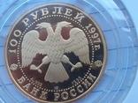 """100 рублей 1997 года, буквы ЛМД, proof """"полярный медведь"""", фото №6"""
