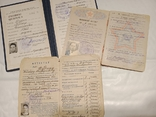 3 документа на Артиста Дудин В. И. СССР. Военный билет. Аттестат., фото №3