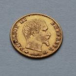 5 франков 1859 Наполеон III Франция. Золото 1,62г, фото №2