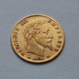 5 франков 1864 Наполеон III. Франция. Золото 1,62г, фото №2