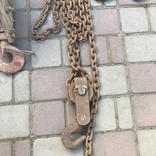 Лебедка, крюк с роликом, 2 серьги, фото №4