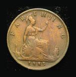 Великобритания фартинг 1885, фото №2
