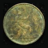 Великобритания пенни 1863, фото №3
