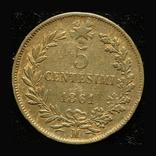 Италия 5 чентезими 1861, фото №2