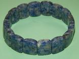 Браслет серо-голубой, фото №3